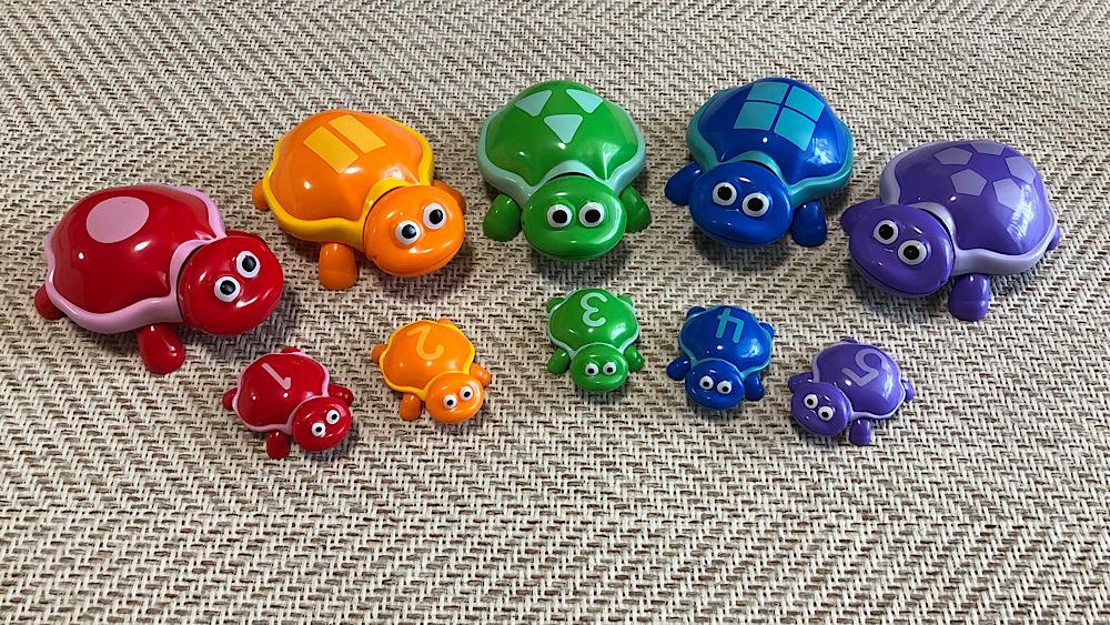 トイサブで借りたおもちゃ「Number Turtles」